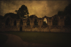 St Mary's Abbey Ruins In The Museum Gardens (manual_exp) Tags: york sky museum landscape ruins yorkshire textures stmarys museumgardens cityofyork canon5dmk2