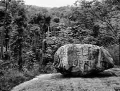 The Keep Off Rock (JBelthoff) Tags: 4x5 ilford fp4 sinar rodenstock 150mm rockawaytownship sironar pyrocathd splitrockreservoir