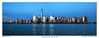 Panoramic of New York City Skyline (SkylineScenes (Bill Cobb)) Tags: city nyc sunset urban panorama ny newyork skyline night river downtown cityscape waterfront dusk pano panoramic hudson riverfront