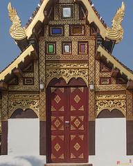 Wat Duang Dee Phra Ubosot Door  (DTHCM0297) วัดดวงดี ประตู พระอุโบสถ
