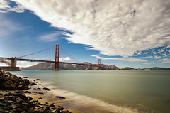 GGB (morozgrafix) Tags: sanfrancisco california longexposure sky water clouds bay day unitedstates cloudy goldengatebridge nd sanfranciscobay ndfilter sigma1020mmf456 nikond7000