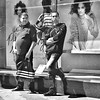 Gazers (canonsnapper) Tags: street blackandwhite bw monochrome square mono candid streetphotography olympus monotone grayscale bandw greyscale olympusomd olympusomdem5