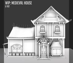 Medieval House WIP (Dani @ Birdy/Foxes/Alchemy) Tags: house building mesh medieval sl fantasy secondlife alchemy