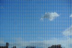 大阪マーチャンダイズ・マートビル (m-louis) Tags: blue sky cloud building architecture mirror 大阪 osaka 天満橋 temmabashi 大阪マーチャンダイズ・マートビル
