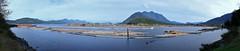 2013-09-01 Sayward Panorama 2 (Ken_Lord) Tags: ocean sea panorama canon log logs boom vancouverisland shipwreck dslr breakwater sayward 60d