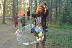 bubble (murkinafaso) Tags: travel people girl forest magic redhead bubble hippie trippy trance soapbubble trimurti