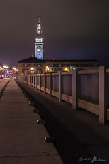 Embarcadero Clock Tower. (JM Lobert) Tags: sanfrancisco california longexposure nightphotography water harbor lowlight waterfront unitedstates baybridge embarcadero seashore