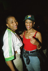 Mandoza Kwaito Band from South Africa at Club Temple March 30 2001 223 Nomonde & Mpume (photographer695) Tags: mandoza kwaito band from south africa club temple mar 2001 248 mpume nomonde
