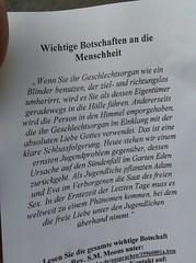 wichtige Botschaften leaflet Germany 22nd July 2009 22-07-2009 19-30-39 (Ian Dennis) Tags: germany july leaflet 2009 22nd botschaften wichtige 193039 22072009