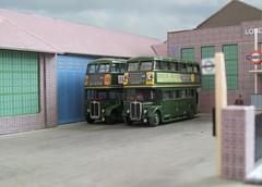 Reigate country bus garage (kingsway john) Tags: reigate bus garage model diorama 176 scale card kit rt london transport londontransportmodel oo gauge miniature