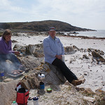Lunch on the white Hebridean sand on Gigha
