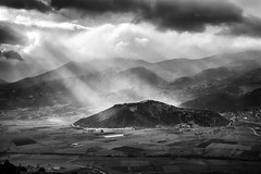 Ray Of Light (Christophe_A) Tags: light sky bw sun sunlight white mountain storm black dark nikon day ray beam explore d800 93b psari explored christopheanagnostopoulos 20140506