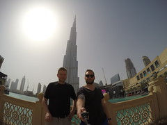 Classic selfistick selfie, Burj Khalifa.