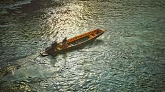 Unidentified Floating Object (wasin.limrangsun) Tags: river asian thailand boats evening boat asia dusk floating fujifilm aasia kanchanaburi fujixseries fujixm1 fujithailand
