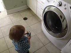 "Paul Watching the Washing Machine • <a style=""font-size:0.8em;"" href=""http://www.flickr.com/photos/109120354@N07/17647133819/"" target=""_blank"">View on Flickr</a>"