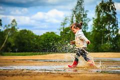 Flash Splash (Michael Angelo 77) Tags: water childhood fun puddle happy toddler memories happiness splash potrait splashingwater flickrfriday thingsmoneycannotbuy