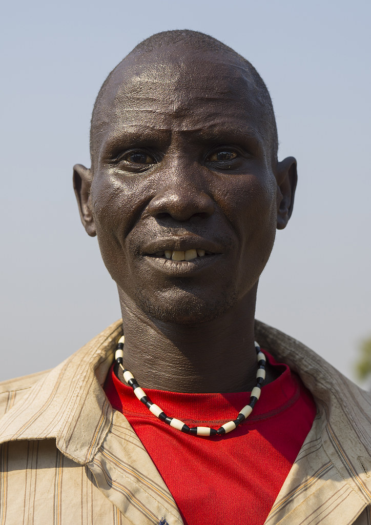 Tribal african man face