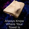 "In celebration of #TowelDay, make sure you Don't Forget a Towel and celebrate all things #DouglasAdams and #HitchhikersGuideToTheGalaxy. #solongandthanksforallthefish #42isalwaystheanswer #dfatowel • <a style=""font-size:0.8em;"" href=""https://www.flickr.com/photos/130490382@N06/18059591266/"" target=""_blank"">View on Flickr</a>"