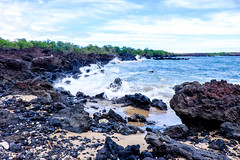 La Perouse Bay, Maui (alliance1) Tags: ocean color hawaii lava surf shoreline maui 2015 laperousebay fujifilmxt1