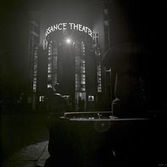 Renaissance Theater (ucn) Tags: rolleiflexsl66 schwarzweis schwarzweiss kodaktrix400 trix400 rolleirhsdc theater theatre nacht night filmdev:recipe=10180 film:brand=kodak film:name=kodaktrix400 film:iso=400 berlin