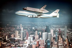 NASA Lyndon B. Johnson Space Center (Prayitno / Thank you for (11 millions +) views) Tags: konomark nasa lbj lyndonbjohnson space center houston tx texas shuttle endeavour endeavor b747 boeing747 shuttlecarrier fly over city skyline
