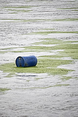 Float away (jkotrub) Tags: water float trash abandonded river scum junk algae waste green wet summer outside outdoors light waves reflection 52in2016 garbage