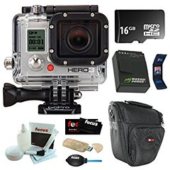 GoPro HD HERO3 Black Edition Wi-Fi Video Camera + Wasabi Battery Pack + 16GB Micro SDHC + Carrying Case + Accessory Kit (goodies2get2) Tags: amazoncom