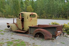 Old Truck (demeeschter) Tags: canada yukon territory highway landscape scenery lake mountains road forest nature