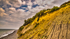 halfside seascape (bocero1977) Tags: grass lines warnemnde landscape nature water germany mood outdoor balticsea seascape light colors trees blue beach hdr tree sand moody sea fineart sky green atmosphere coast cliff clouds