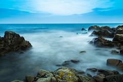 Miniature bay (RuneKC) Tags: sea outdoor water shore ocean cloud rock sky landscape seascape sweden stenshuvud nature