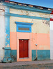 Bright wall with a red door in Talpa, one of Mexico's Pueblos Magicos in the Pacific high sierras (albatz) Tags: sierramadre westcoast buildings talpa mexico pueblosmagicos pacific high sierra wall bright door jalisco town