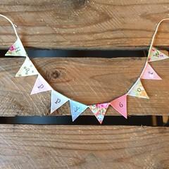 Happy 60th (Emma Bunting) Tags: birthday bunting cake mini emma happy vintage retro straws handmade made britain
