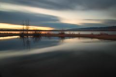 Dawn Breaks Slowly (mclcbooks) Tags: sunrise dawn daybreak sky morning landscape seascape clouds reflections lakechatfield chatfieldlakestatepark colorado autumn fall longexposure le