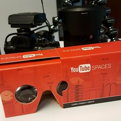 Learning how to tell stories in 360 starts with VR glasses. #youtubespacela