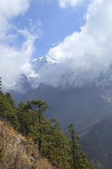 Blauer Himmel (Alfesto) Tags: sagarmathanationalpark trekking wanderung himalaya phorche phortse namche khumbuarea tengboche nepal