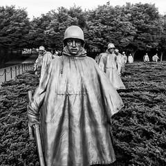 American Soldier (Thomas Hawk) Tags: america districtofcolumbia koreanwarmemorial koreanwarveteransmemorial usa unitedstates unitedstatesofamerica washingtondc bw memorial soldier washington us fav10 fav25 fav50