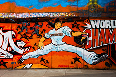 Timmy Lincecum (Thomas Hawk) Tags: america bode california giants northbeach northbeachdistrict sfgiants sanfrancisco sanfranciscogiants timlincecum usa unitedstates unitedstatesofamerica baseball graffiti pitcher fav10