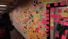 [Group 4]-IMG_2209_IMG_2211-3 images (neatnessdotcom) Tags: union square subway station postit notes wall tamron 18270mm f3563 di ii vc pzd canon eos rebel t2i 550d