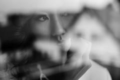Gedanken [Explored 27 Nov 2016] (David Go ~) Tags: monochrome blackandwhite schwarzundweiss bw sw germany shooting portrait woman reflektionen reflection mirroring spiegelung nocolors sigmaart50mm sigmaartlense canoneos6d natural ava availablelight dreamy dreamlike explored explore