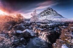 Winter Wonderland (devlin11) Tags: glencoe winter scotland scenery sunset frozen tranquil buachaille etive nikon mountains mountain mystic landscape colour exposure