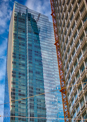 Reflections of our neighbor (wpitts1964) Tags: architecturaldetail leaning millenniumtower millin salesforcetower sanfrancisco sinking