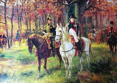 Napoleon and General Davout (pefkosmad) Tags: jigsaw puzzle hobby leisure pastime falcon 1000pieces complete napoleon generaldavout painting art raymonddesvarreux napoleonbonaparte louisnicolasdavout mounted horses woodland forest trees