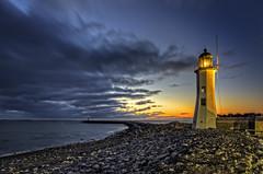 Old Scituate lighthouse (Frank C. Grace (Trig Photography)) Tags: scituate massachusetts unitedstates lighthouse light newengland bluehour goldenhour dusk sunrise blue beacon history historic