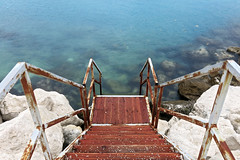 Split jugo 6 (LukaBoban) Tags: sea wind bay shore dark clouds water stone rock blue grey winter cold seascape croatia split
