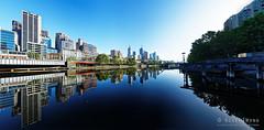 201161120-05-Yarra River Melbourne reflections_pano (Roger T Wong) Tags: 2016 australia cbd melbourne ptgui rogertwong sel2470z sony2470 sonya7ii sonyalpha7ii sonyfe2470mmf4zaosscarlzeissvariotessart sonyilce7m2 victoria yarrariver building city morning pano panorama relflection river skyline skyscraper water