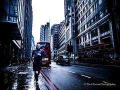 Running through the City of London (The Ultimate Photographer) Tags: running city london bus blackcab redbus cityoflondon spitafield lst liverpoolstreet olympus man runner