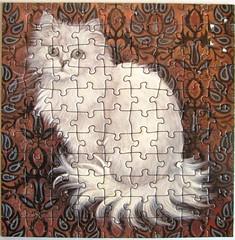 Ivory Cats - Weisse Langhaarkatze (Leonisha) Tags: puzzle jigsawpuzzle langhaarkatze katze cat chat