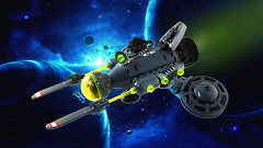 Fluffy Viper (TFDesigns!) Tags: lego space spaceship fluffy cat viper nnovvember starfighter