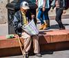 2016 - Mexico - San Luis Potosi - Its in the Bag (Ted's photos - For Me & You) Tags: 2016 cropped mexico nikon nikond750 nikonfx sanluispotosi tedmcgrath tedsphotos tedsphotosmexico vignetting oldman senor streetscene street people peopleandpaths cane ballcap handbag beard moustache denim denimjeans