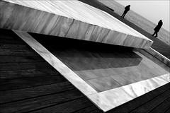 light a cigarette and walk away (bostankorkulugu) Tags: pool pond fountain couple greece macedonia makedonia timeless macedonian  thessaloniki salonica salonika hellas neaparalia paralia